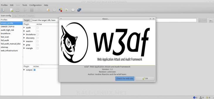 kali-linux.net/w3af