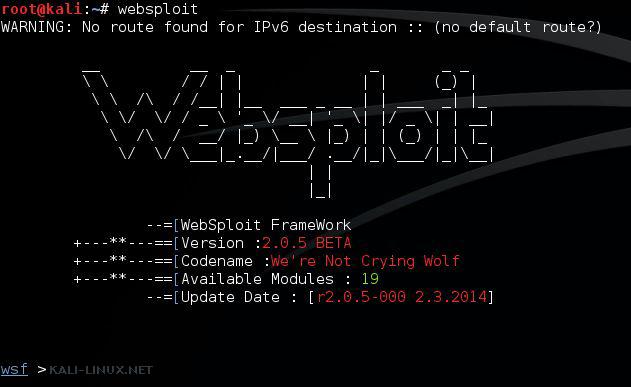 Kali-linux.net WebSploit